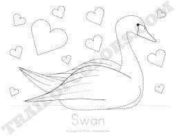 Swan Tracing Coloring Page Free Printable address book printable pages,book free download card designs on printable address book pages