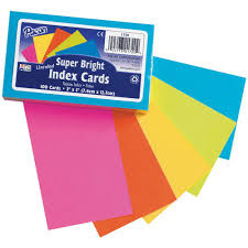 3x5 Cards Super Bright Index Cards 3x5 Unrule