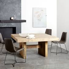 incredible reclaimed wood square dining table emmerson reclaimed wood square dining table 60 sq west elm