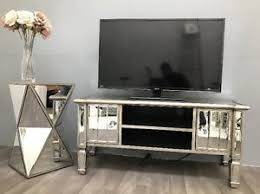 mirror tv unit. image is loading mirrored-tv-stand-vintage-glass-cabinet-silver-venetian- mirror tv unit y