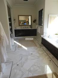 white marble tile flooring. Bathroom Design Striking Visual Of Calacatta Marble For I On Ideas White Kitchens Tile Flooring
