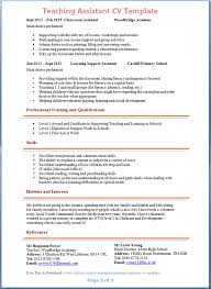 Resume Examples For Teacher Assistant Extraordinary Resume Template Resume Examples For Teacher Assistant Free Career