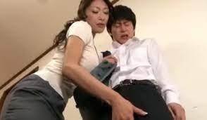 Asian Mom Jerks Off Son