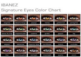 Eye Color Chart Natural And Fantasy Colors A Single Color