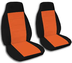 black orange car seat covers black red
