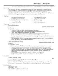 Cnc Machinist Resume 15784 Hang Em Com