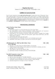 Resume For A Bartender Gorgeous Bar Tender Resume Bartenders Example Bartender Sample Server Skills