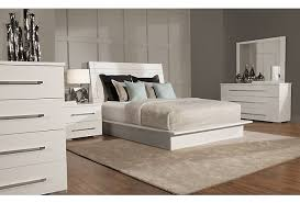 Dimora3 White Wood Platform Bedroom