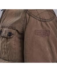 barbour international x triumph men s locking distressed wax jacket hickory mwx1090br71