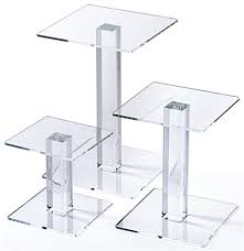 3 tier acrylic square riser set