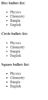 Fourth Chapter Lesson 8 Ordered List Unordered List