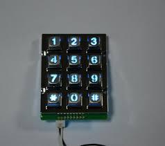 Quality Vending Machine Classy 488 X 48 Keys Zinc Alloy High Quality Vending Machine Keypad With