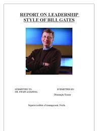 essay on bill gates