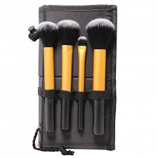 man fei makeup brush 2 in 1 case stand gold