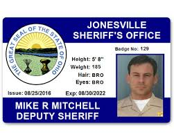 Card Department Id Pvc Sheriff's