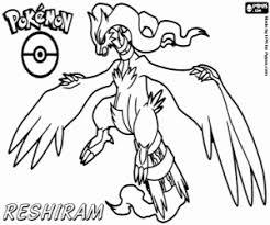 Kleurplaat Reshiram Een Zwarte Pokémon Kleurplaten