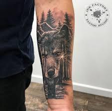 волк сделано в Inkfactory