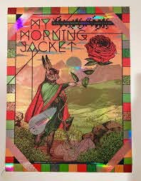 my morning jacket red rocks foil poster