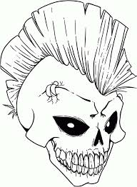 35bba56039148696c303b5f2945c3839 skull, punk rock skull coloring page punk rock skull coloring on punk rock coloring pages