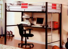 affordable metal loft bunk bed with desk underneath and black rolling chair metal bunk bed with desk underneath r83 metal