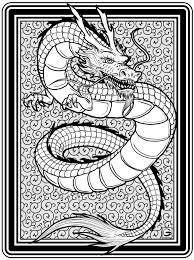 Downloadbare High Resolution Kleurplaat Dragon Vormengei