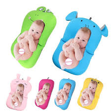 foldable newborn baby bath tub infant support pad chair shelf seat cushion mats