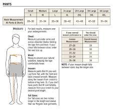 Carhartt Size Charts Genpac Apparel