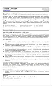 Sample Nurse Resume Sample Director Of Nursing Resume Resume Cover Letter Example 63