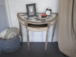 half moon console table. Shabby Chic Half Moon Console Table H