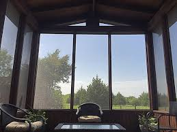 looking out door. Full Screened Porch Looking Out · Outdoor Living Door