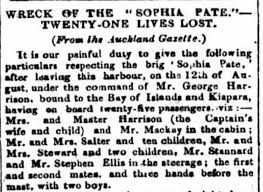 Wreck of the Sophia Pate   NZHistory, New Zealand history online