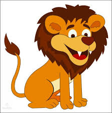 Sitting Funny Lion Cartoon For Free Commercial Use