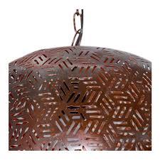 lamp basket shade pendant lamp iron textile cable bronze copper inside