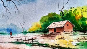 watercolor landscape painting full demonstration paint with david