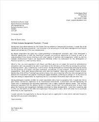 graduate management job application cover letter cover letter sample application