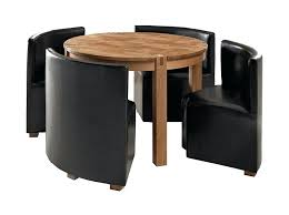 compact table and chairs small dining room design ideas with rounded wood dining table set with