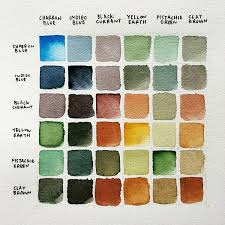 Clay Color Chart The Sketchers Set Color Chart