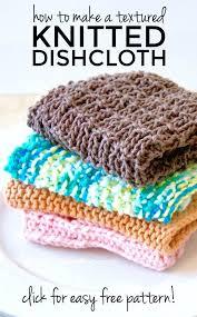 Easy Knit Dishcloth Pattern Mesmerizing Super Easy Knitted Dishcloth With Free Pattern The Soccer Mom Blog