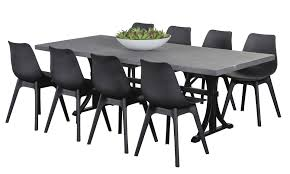 outdoor table and chairs. Ancona Black 8 Seater Rome GRC Table, Outdoor Dining Furniture, Settings, Table And Chairs O