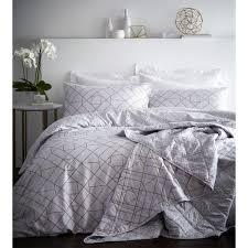 portfolio gatsby geometric 200 thread count 100 cotton duvet cover set ivory