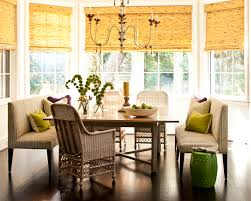breakfast banquette furniture. Appealing Bamboo Rolling Curtain Black Out And Stunning Rectangle Wood Table Laminate Floor Dining Banquette Breakfast Furniture K