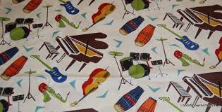 All That Jazz Musical Instruments LM29 Piano Drums Bongo Guitar ... & All That Jazz Musical Instruments LM29 Piano Drums Bongo Guitar Sax Music  Cotton Fabric Quilt Fabric Adamdwight.com