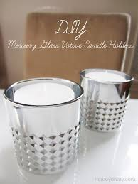 Diy Gold Candle Holders Diy Mercury Glass Votive Candle Holders Homey Oh My