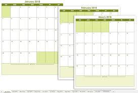 monthly calendar 2018 template free excel calendar templates