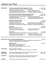 college writing format resume format examples for students samples of resumes college