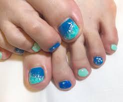 ターコイズブルーの海ネイル ちょっこしnail