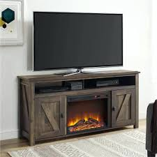 rustic corner electric fireplace entertainment center oak stand