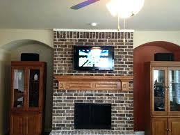 mounting tv in brick fireplace mounting above brick fireplace wall tv wall mount on brick fireplace