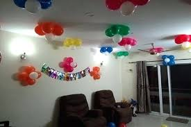 balloon decoration birthday party home simple ideas at birthday