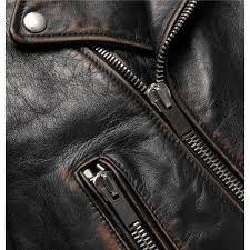saint lau slim fit burnished leather biker jacket men s leather jackets rin8l7ov